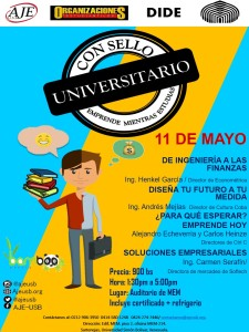 """Jóvenes Empresarios de la USB invita al evento """"Con Sello Universitario, emprende mientras estudias"""""""