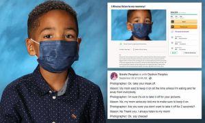 Niño de Las Vegas se hizo viral tras negarse a quitar la mascarilla para una foto escolar